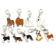 Metal aço inoxidável liga jóias cão Chamrs pingente