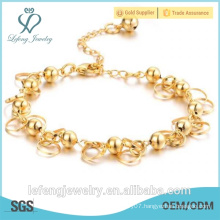 Vogue style 18K gold plated small bells bracelet for women