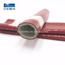 Tuyau enduit résistant à la chaleur de manches d'incendie de silicone / fibre de verre