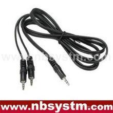 Fiche stéréo 3,5 mm 3,5 mm à 3,5 mm stéréo 2 connecteurs câble audio direct