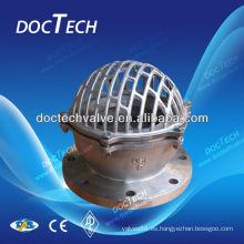 Válvula de fondo de acero inoxidable hecha en China