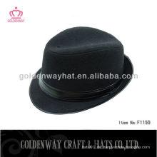 Männer schwarze kurze Rand Fedora Filz Hut zum Verkauf