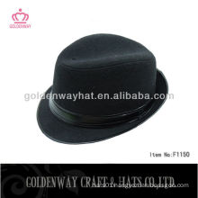 Men's black short brim fedora felt hat for sale
