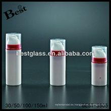 Las botellas sin aire cosméticas 30/50/100 / 150ml, forma redonda, ofrecen personalizar el color
