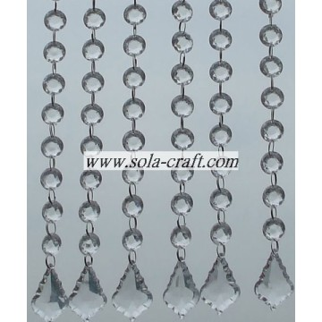 Clear Acrylic Imitation Faux Pearl Crystal Beaded Garland