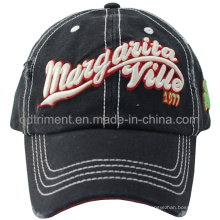 Grinding Washed 3D Embroidery Canvas Golf Baseball Cap (TMB0338)