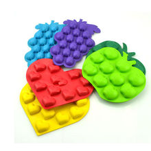 Reusable Silicone Kitchenware , Muffin Case Candy Jelly Mold With Fruit Shape