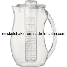 Fruit Infuser Plastic Pitcher with Custom Color