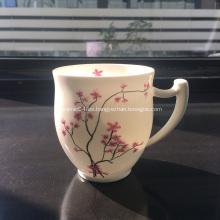 Taza de té de porcelana fina de porcelana de hueso