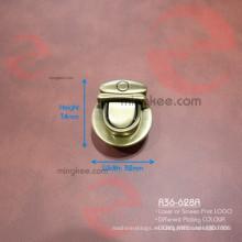 Aleación de zinc Anti latón cepillado pequeño botón de bloqueo de bloqueo