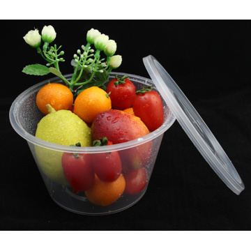 Recipientes descartáveis para alimentos redondos PP 1000ml