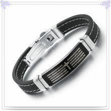 Fashion Jewelry Rubber Bracelet Silicone Bracelet (LB244)