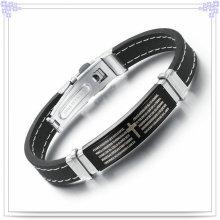 Moda jóias pulseira de borracha pulseira de silicone (lb244)