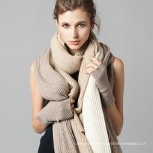 Vente en gros vente chaude cravate teinture cachemire écharpe en soie blanche