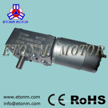 12v 24v dc electric motor 70kg.cm electric curtain right angle worm gearbox