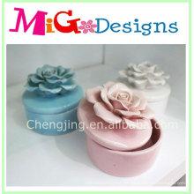 New Design Supplies Keramische Blumen Schmuckschatullen