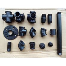 malleable black cast iron pipe fittings