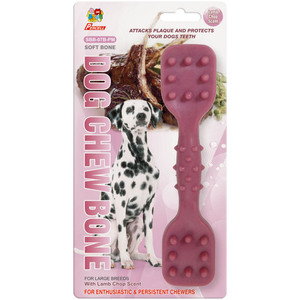 "Percell 7.5 ""Dura Chew Toy Dumbbell Lamb Scent"