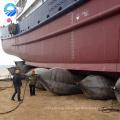 Cuerda de amarre con bolsas de aire de goma inflables para elevación de buques