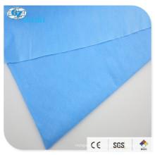 Tela não tecida laminada de Spunlace 50% VIS50% PET 60gsm, (spunlace azul de 54644009,40gsm + 20PE filme azul)