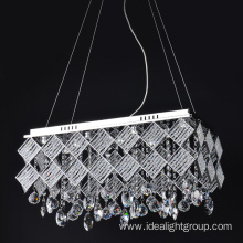 modern crystal pendant light chandelier hanging led lamp