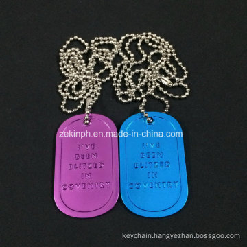 Cusom Aluminum Dog Tags with Anodizing Finish