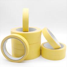 80 graus de pintura de carro amarelo claro mascaramento fácil de descascar fita crepe impermeável
