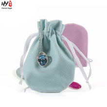 Bom preço personalizado saco de jóias de veludo