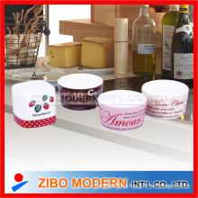 Porcelana Ware Ramekin Bowl con Pie de imprenta