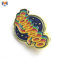 Logo logam Custom badge lapel pins maker