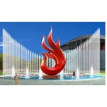Modern Garden Abstract Escultura de acero inoxidable mejor vendida para la venta.