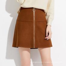 Mini jupe de soirée femme avec fermeture éclair