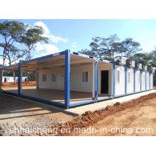 Casa del envase del paquete plano 20ft para el campo de la explotación minera (shs-fp-camp059)