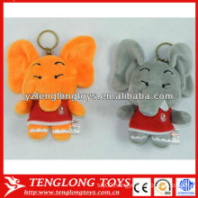 2colors stuffed elephant toy custom plush keychain