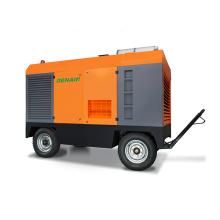 Diesel portable air compressor for portable rock drilling machine