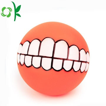 Funny Pet Bijtring Silicone Dog Chew Toy Balls