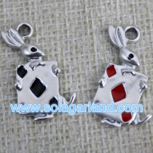 15*26MM Playing Card Metal Pendants Oil Driping Pendants For Necklace Decor