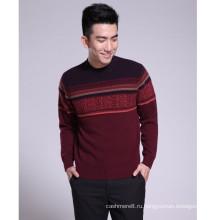 Anti-пилинг кашемир толстые жаккардовые мужские свитера