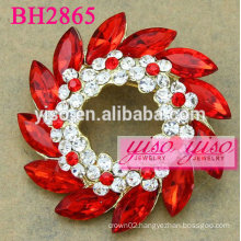 circle crystal fashion brooches