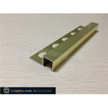 Bright Gold Aluminum Square Schluter Strip12mm Height