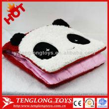 Housse de coussin de panda d'animaux accueillante