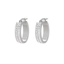 E-589 Xuping Stainless Steel Jewelry Newest  Earrings Elegant fashion Hoop earrings