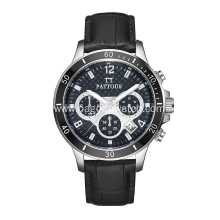 Stainless steel chronograph men watches