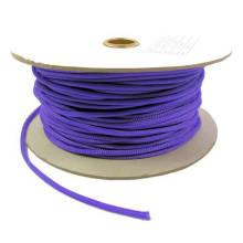 Douilles extensibles de câble d'animal familier de tresse de 12mm pourpre