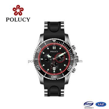 Estilo empresarial de silicona reloj para hombres reloj de OEM
