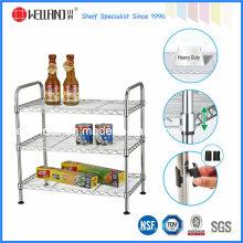 Rack multifuncional de estantería de cocina de alambre de metal cromado con aprobación NSF