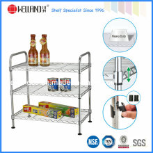 Multi-Functional Chrome Metal Wire Kitchen Shelf Rack with NSF Approval