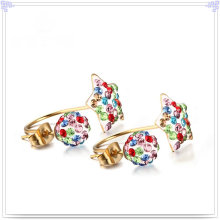 Fashion Jewellery Crystal Jewelry Stainless Steel Earring (EE0241)