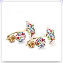 Jóias de moda cristal jóias brinco de aço inoxidável (EE0241)