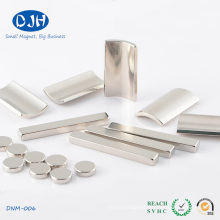 Arc Shape Sintered Neodymium Permanent Magnet with Nickel Coating